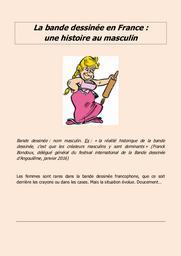 La Bande dessinée en France : une histoire au masculin |
