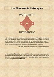 Les Monuments historiques |
